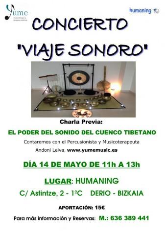 CARTEL CONCIERTO + CHARLA HUMANING 14-5-16