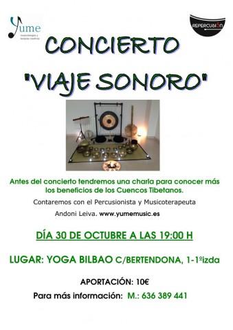 CONCIERTO + CHARLA YogaenBilbao 30-10-15