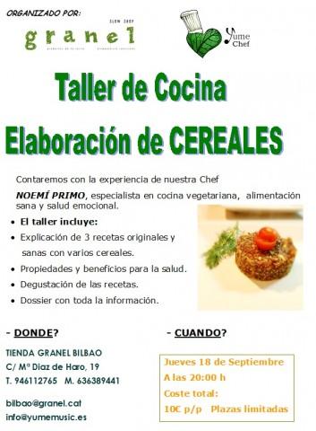 Cartel Taller Granel 18-9-14
