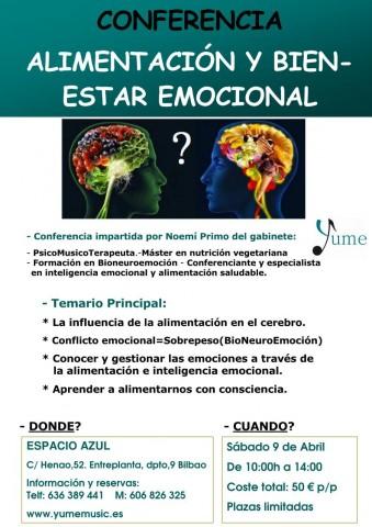 Cartel Taller Alimentacion y Emociones E.AZUL