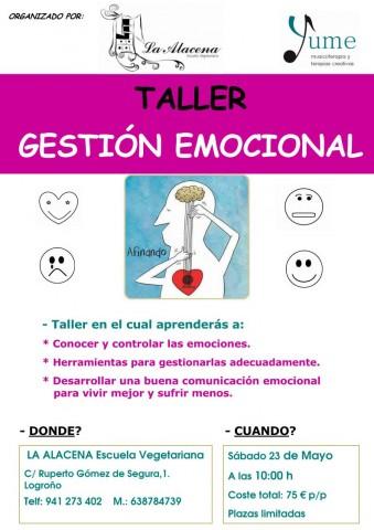 Cartel Taller Emociones Logroño 23-5-15